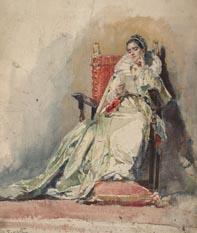 Dama leyendo una carta, de Alejandro Ferrant (Ansorena, 700 euros).