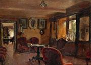 La puja por Interior de El Corgo, La Coruña (O/L, 46 x 63 cm) de Alejandro ferrant comienza en Ansorena desde los 3.600 euros