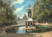 Fuente del Palacio de La Granja de San Ildefonso (O/L, 44 x 56 cm), de Alejandro Ferrant, en Ansorena por 3.600 euros