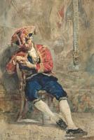 Alejandro Ferrant, Lacayo del Ayuntamiento (acuarela, 33 x 23 cm), sale a pujas por 500 euros en Ansorena