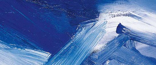Detalle de Corrientes azules, 1960, de José Guerrero. Segre