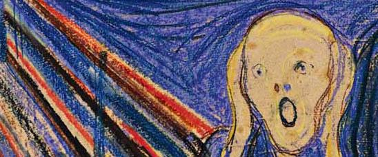 Detalle de El grito, de Munch, vendido en Sotheby's por casi 120 millones de dólares, pasando así a ser la obra más cara vendida en subasta