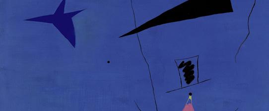 Detalle de Peinture (Étoile Bleue), 1927, de Joan Miró. Vendido en Sotheby's Londres por 23.561.250 libras (36.946.396 dólares; 29.260.764 euros) y se convierte así en la pieza más cara del catalán