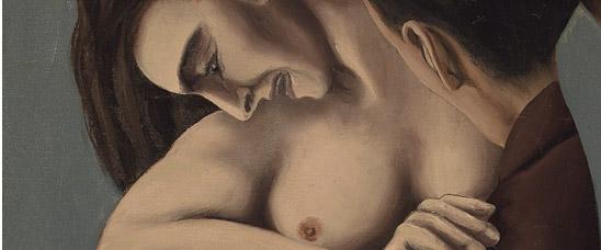 Detalle del Les jours gigantesques (The Titanic Days), 1928, de René Magritte, comprado en Christie's por el multimillonario Wilbur Ross nada menos que por 7.209.250 libras (11.332.941 dólares; 8.925.052 euros), superando nueve veces su estimación más baja