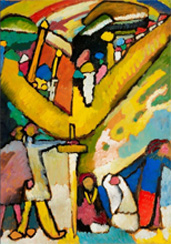 La pieza más cara de Wassily Kandinsky hasta el momento: Studie für Improvisation 8, 1909, vendida en Christie's Nueva York por 23.042.500 dólares