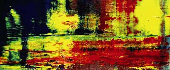 Detalle del Abstraktes bild, 1994, del alemán Gerhard Richter: el cuadro de autor vivo por el que más se ha pagado, en Sotheby's
