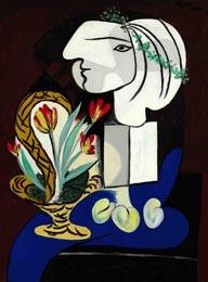 De Pablo Picasso, Nature morte aux tulipes, 1932, se vendió finalmente por 41.522.500 dólares en Sotheby's Nueva York