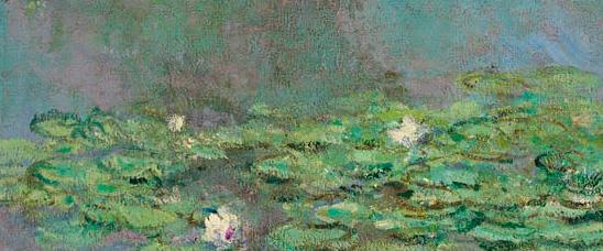 Detalle de las Nymphéas (The Water Lilies), 1905, de Claude Monet, vendidas en Christie's Nueva York por 43.762.500 dólares