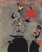 El magnífico papel de Joan Miró papel titulado Dormeurs réveillés par un oiseau, 1939, alcanzó en Christie's Nueva York los 3.778.500 dólares