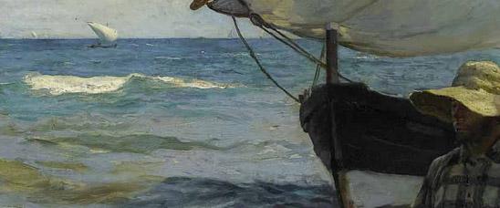 Detalle de Pescadores valencianos, de Joaquín Sorolla, vendido en Sotheby's Londres por 4.652.881 euros
