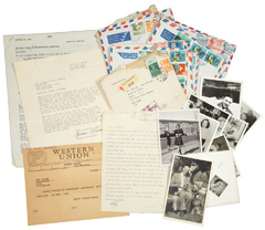 The collection includes a number of unique letters and documents concerning Otto Frank's attempts to emigrate to the United States with his family before they went into hiding. The Anne Frank House was able to acquire the collection
