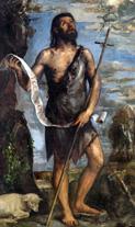 El tardío y espirutal San Juan Bautista de Tiziano, de El Escorial