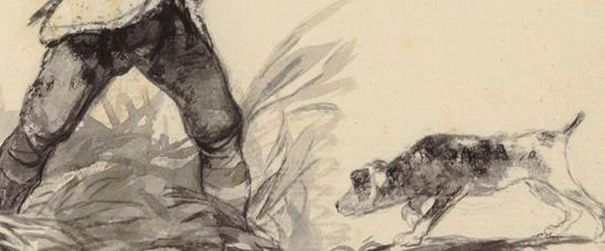 Detalle del dibujo de Francisco de Goya, Si yerras los tiras!, que vendió Christie's Londres