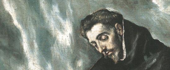 Detalle del Santo Domingo en oración de El Greco, vendido en Sotheby's