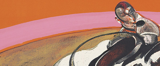 Detail from this terrific Study for a Bullfight by Francis Bacon. Estimate: £40,000-60,000 at Christie's online-only