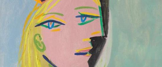 Detalle del retrato de Marie-Thérèse pintado por Picasso en 1937 y titulado Femme au béret orange et au col de fourrure. Christie's lo ofrece con una estimación de ocho a doce millones de dólares