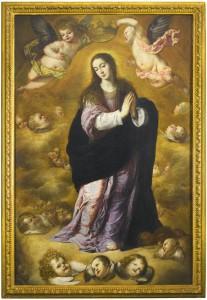 Inmaculada Concepción de grandes dimensiones de Antonio de Pereda. Perteneciente a la colección de Fórum Filatélico, fue vendida en Sotheby's Londres por apenas 92.500 libras (111.445 euros)