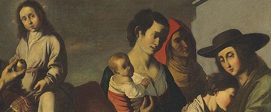 Detalle del cuadro Retorno de Egipto, atribuido recientemente al taller de Zurbarán
