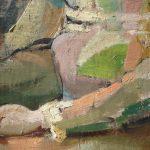 alvaro delgado arlequin, 1950, detalle