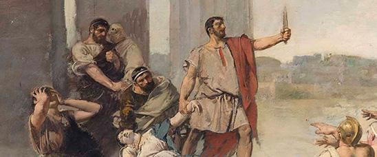 casto plasencia origen de la republica romana, casto plasencia pintura de historia