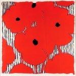 Donald Sultan, Eight Red Poppies With Flocked Center, 2002