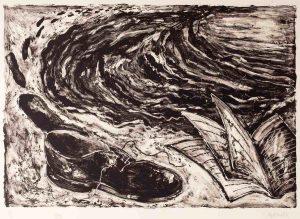 Miquel Barceló, Soulier (shoe and book), 1984