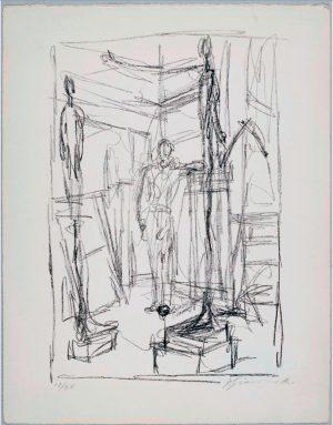 Alberto Giacometti, Personagge dans l'atelier, 1954