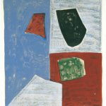 Serge Poliakoff, Composition rose, rouge et bleue, 1958