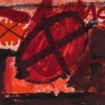 Invertir en Arte  Antonio Tàpies, Cercle Rouge (G596)