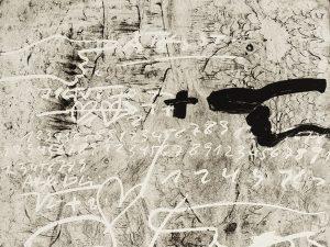 Antoni Tapies, Improvisation, 1987, detail 2