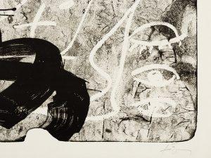 Antoni Tapies, Improvisation, 1987, signature