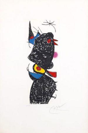 Joan Miró, Le coq de Bruyere, 1975