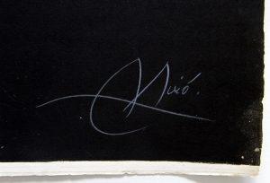 Joan-Miró-Barcelona-1972-1973, signature