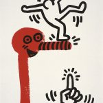 Keith Haring, The story of red and blue 20, 1990
