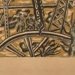 Fernand Léger, L'echafaudage au soleil, 1951, detail