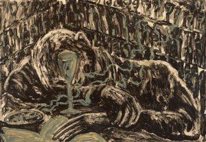 Miquel Barceló, Jeune home ivre dans bar, 1983