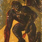 Miquel Barceló, Peintre agenouille, 1980