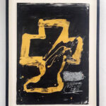 Antoni Tàpies, Personnage assis from Variations, 1984, framed