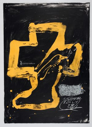 "Antoni Tàpies, Personnage assis from ""Variations"", 1984"