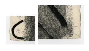 Antoni Tapies, Lletres i gris, 1976, detalles