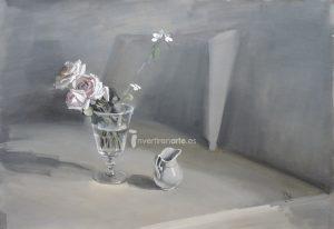 Ramón Gaya, Bodegón con jarra y flores, 1944