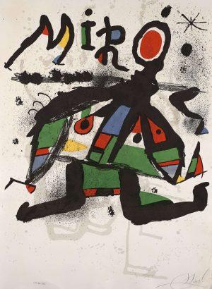 Joan Miro, Affiche pour l'exposition Miro, 1972