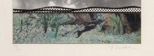Invertir en Arte - Roy Lichtenstein, Fish and Sky, from Ten from Leo Castelli portfolio, 1967_detail