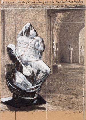 Christo. Wrapped Statues (Sleeping Faun). 2000