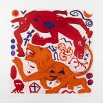 A. R. Penck. Untitled (horse and lion)