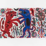 A. R. Penck. Untitled (two animals)