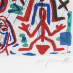 A. R. Penck. Untitled (two animals), signature