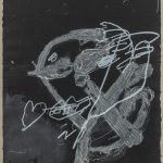 Antoni Tapies, Blanc sur noir, 1987