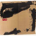 Antoni Tàpies. Rouge a gauche, 1984