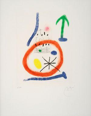 Joan Miro, Chemin de Ronde III, 1966